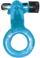 Clit Buddy Dazzling Dolphin Cock Ring Blue
