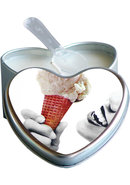 Earthly Body Heart-shaped Hemp Seed Edible Massage Candle...