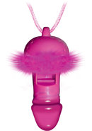 Bachelorette Party Blow Me Pecker Whistle Necklace Pink