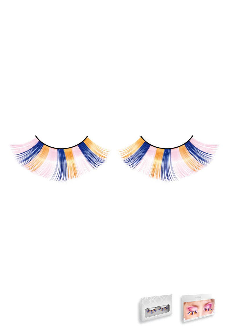 Pink-blue-yellow Glitter Eyelashes