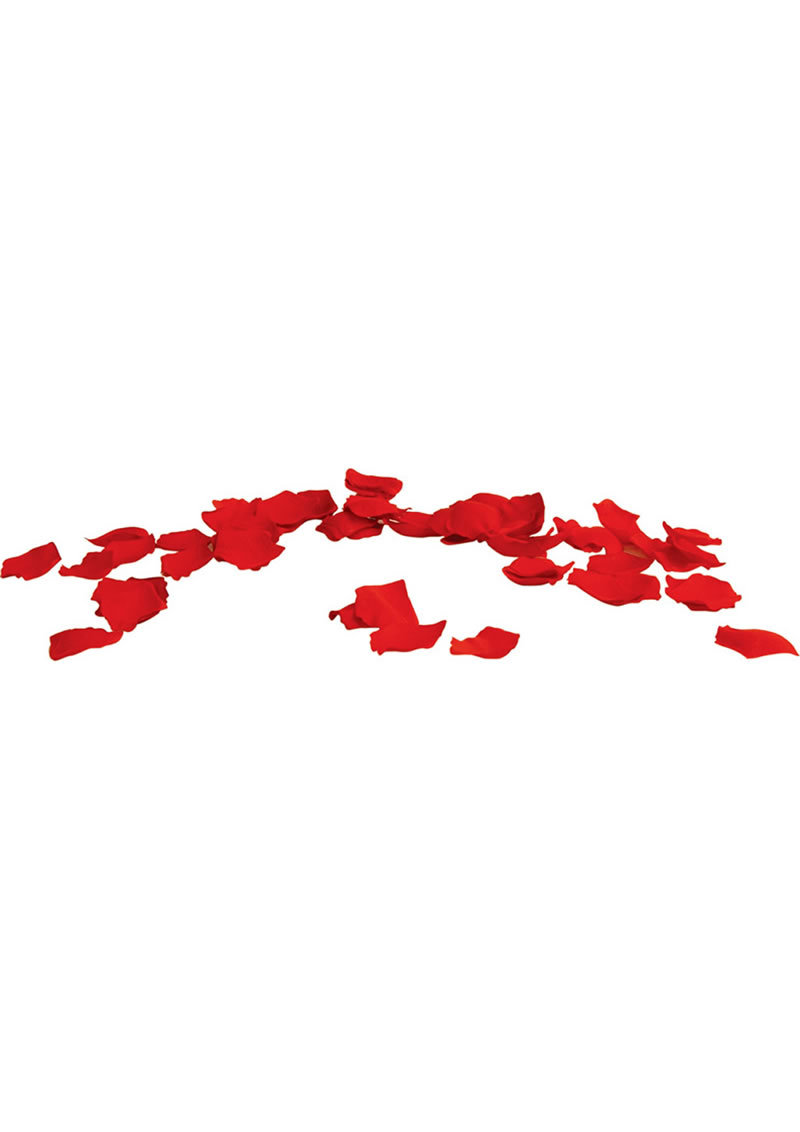 With Love Rose Scented Silk Petals Red