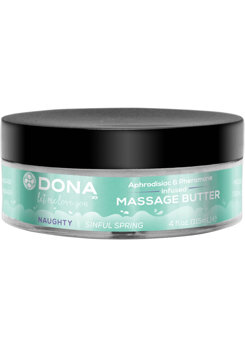 Dona Aphrodisiac And Pheromone Infused Massage Butter Naughty Sinful Spring 4 Ounce