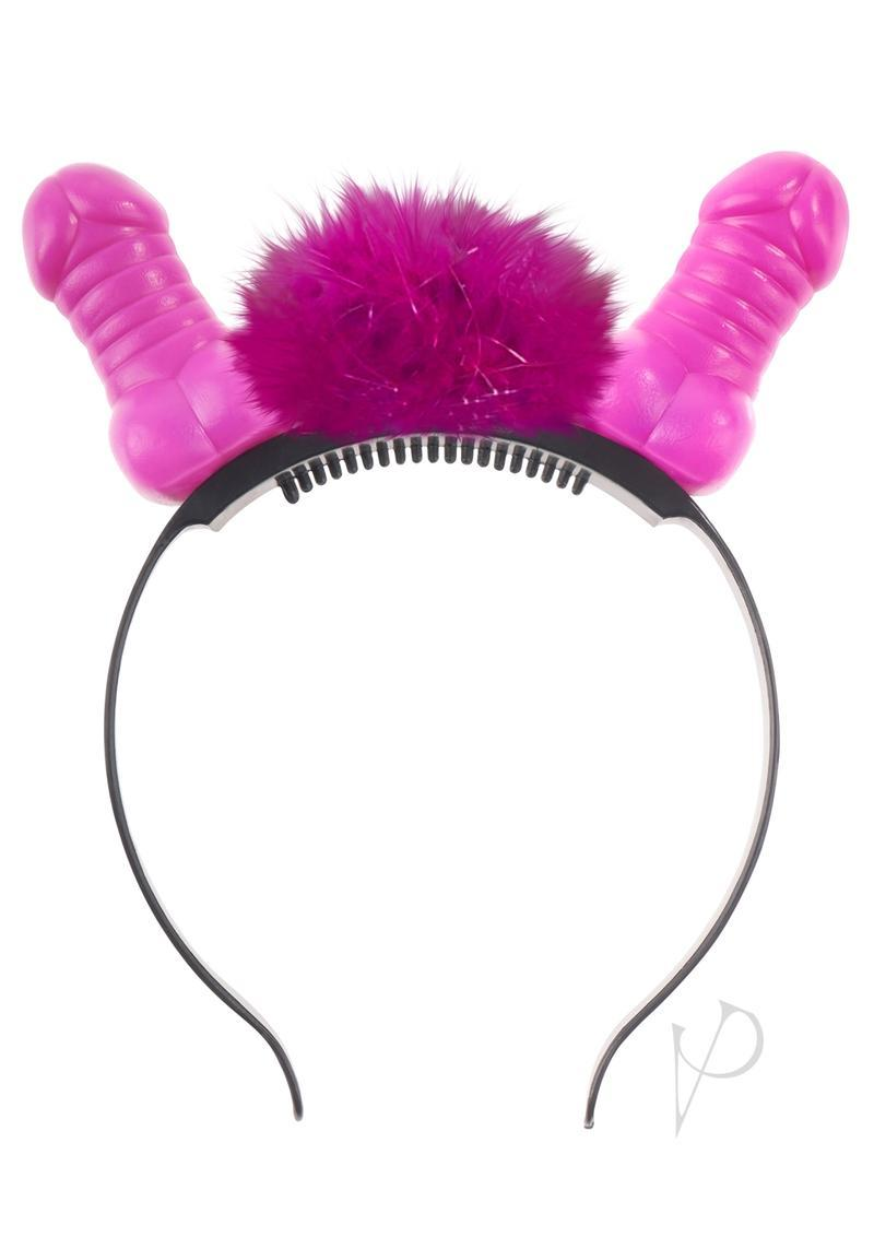 Bachelorette Party Favors Light Up Flashing Pecker Headband Pink